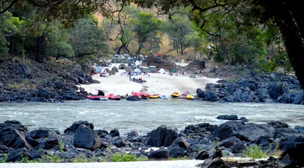Camping Overnight Rafting trip