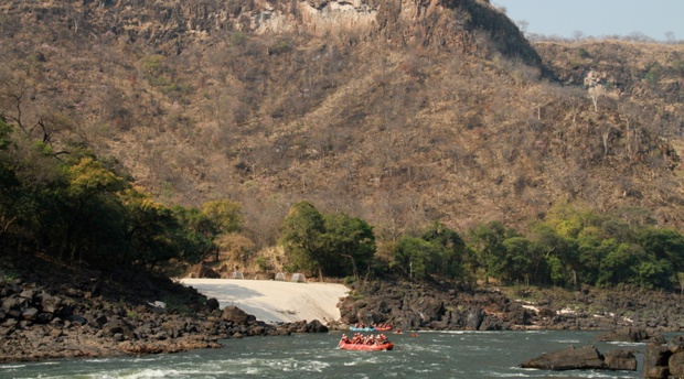 overnight rafting Zambezi