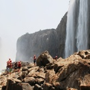 Swimming under the Victoria Falls Zambia