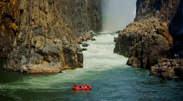 Swimming under the Victoria Falls Bundu Adventures Zambia